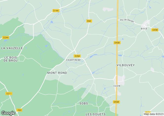 Map for Pays de la Loire, Maine-et-Loire, Chartrené
