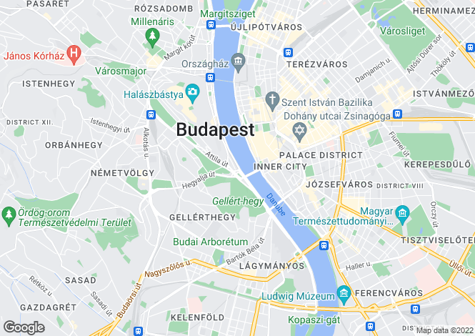 Map for District I, Budapest