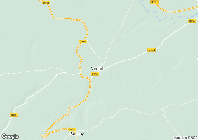 Map for Burgundy, Côte-d`Or, Vernot
