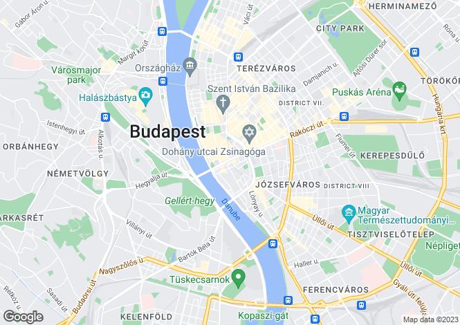 Map for District V, Budapest