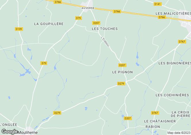 Map for Pays de la Loire, Maine-et-Loire, Auverse