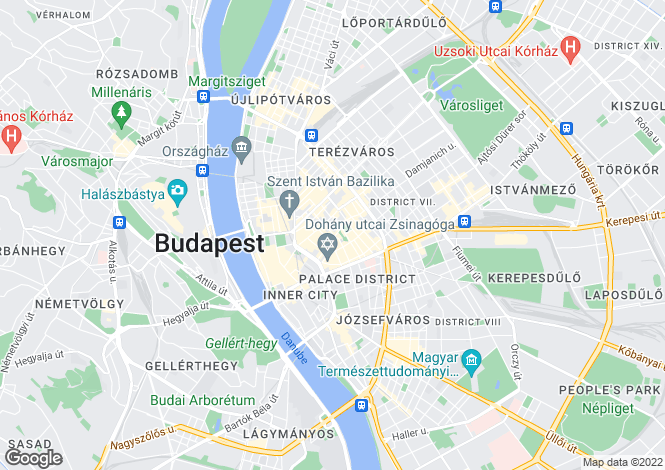 Map for District Vii, Budapest