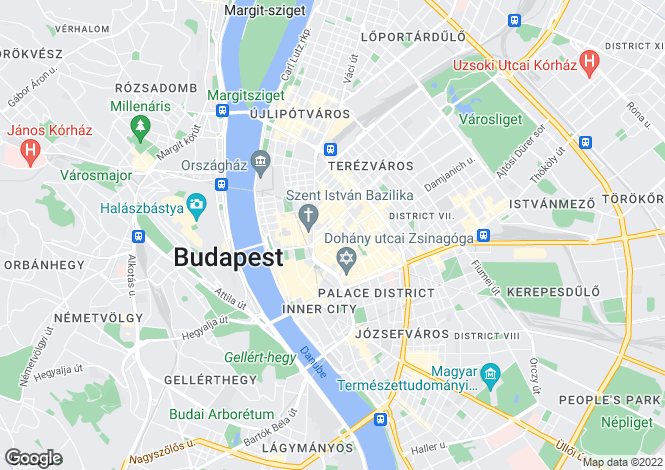Map for Budapest, District VI