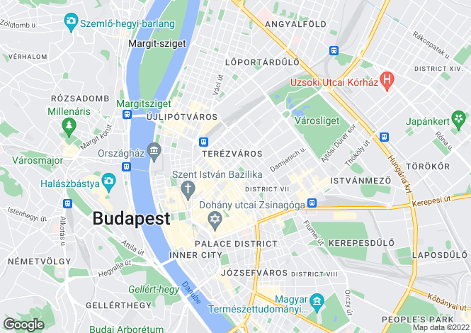 Map for District Vi, Budapest