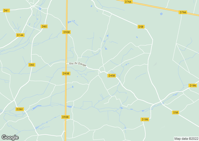Map for boce, Maine-et-Loire, France