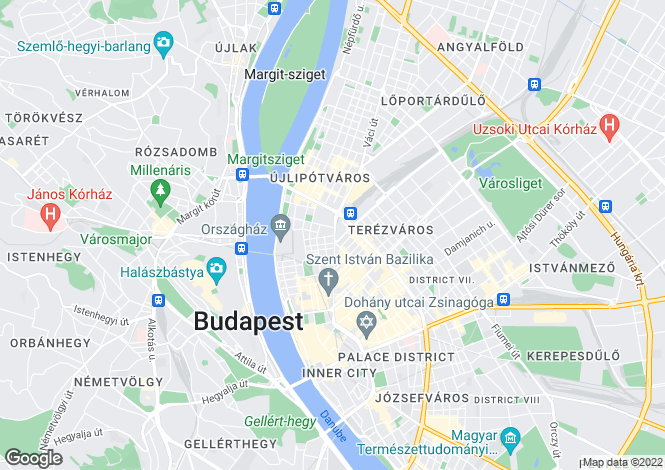 Map for District V, Budapest