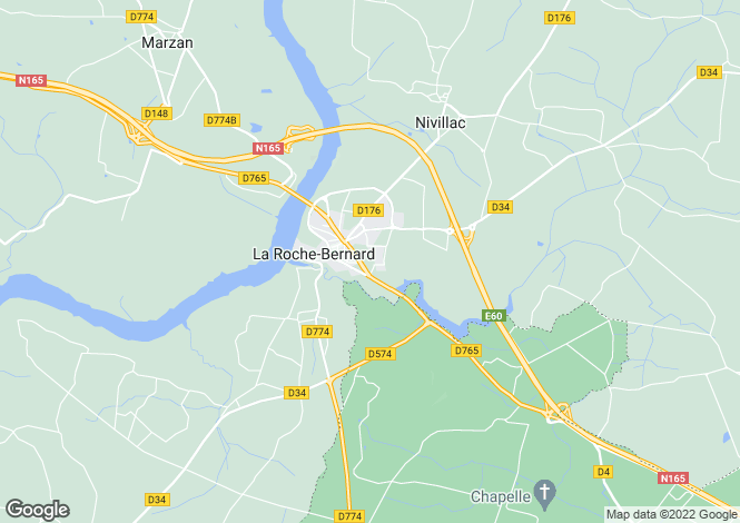 Map for la-roche-bernard, Morbihan, France