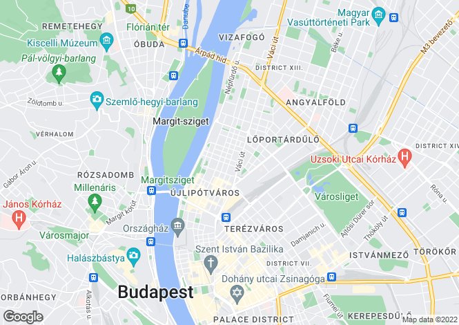 Map for District Xiii, Budapest