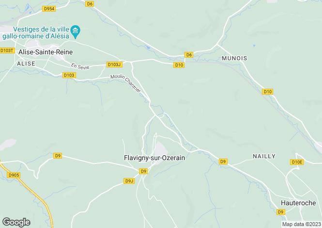 Map for FLAVIGNY SUR OZERAIN, COTE D'OR