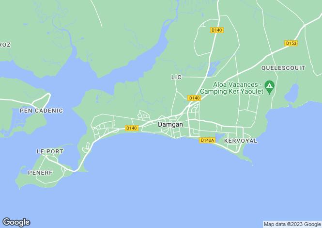 Map for DAMGAN, Bretagne