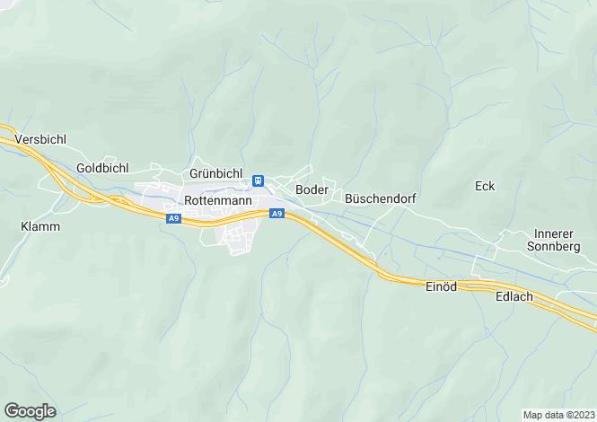 Map for 5662, St. Georgen, Austria