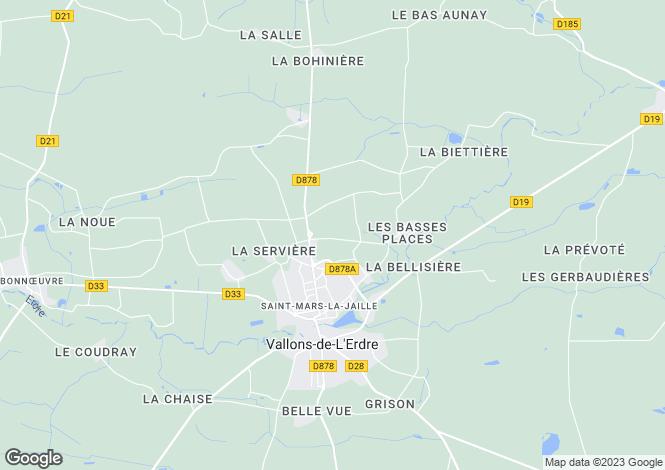 Map for st-mars-la-jaille, Loire-Atlantique, France