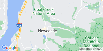 Newcastle Gutter Cleaning map