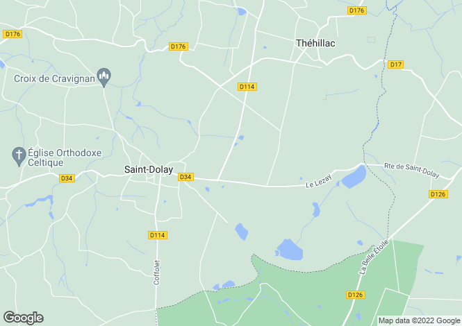 Map for st-dolay, Morbihan, France