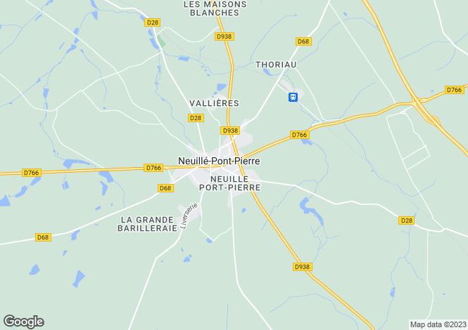 Map for neuille-pont-pierre, Indre-et-Loire, France