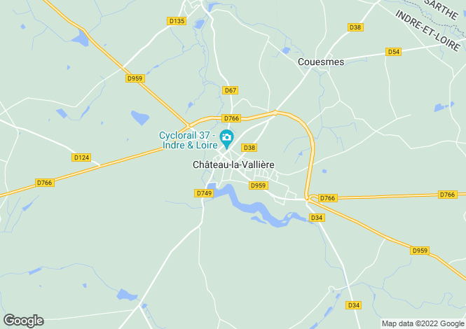 Map for Chateau-La-Valliere, Centre, 37330, France