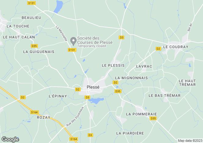 Map for plesse, Loire-Atlantique, France
