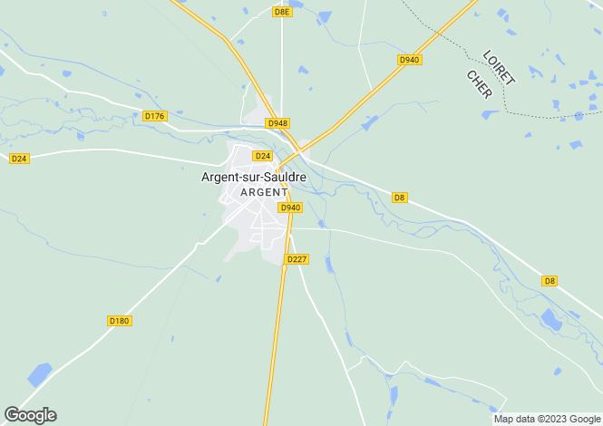 Map for Centre, Cher, Argent-sur-Sauldre