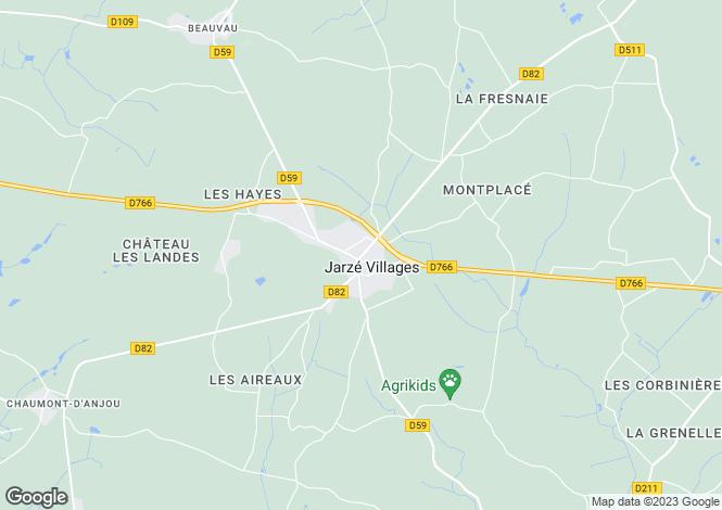 Map for Jarze, Maine-Et-Loire, 49140, France