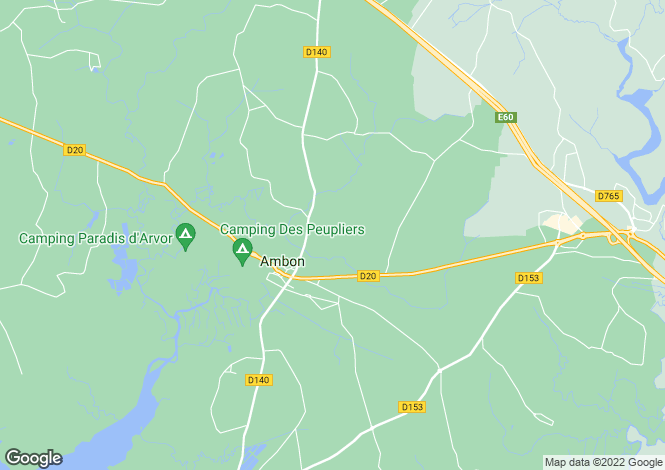 Map for ambon, Morbihan, France