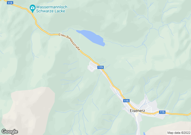 Map for Styria, Leoben, Eisenerz