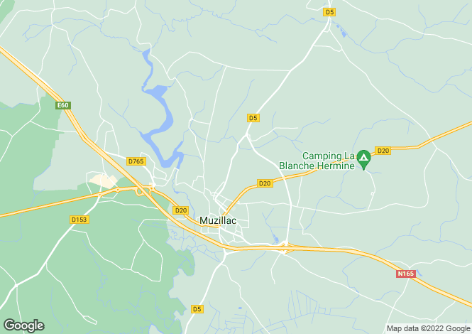 Map for muzillac, Morbihan, France