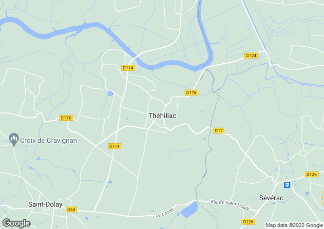 Map for thehillac, Morbihan, France