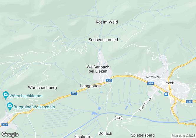 Map for Steiermark, Liezen, Liezen, Austria