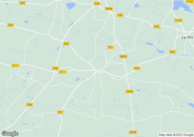 Map for st-sulpice-des-landes, Loire-Atlantique, France