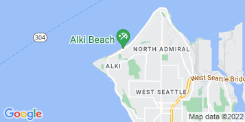 Alki Beach Window Cleaning map