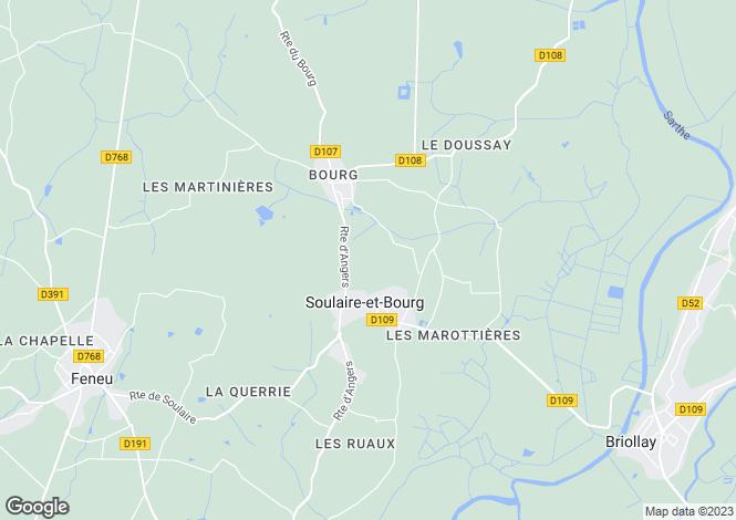 Map for Pays de la Loire, Maine-et-Loire, Soulaire-et-Bourg