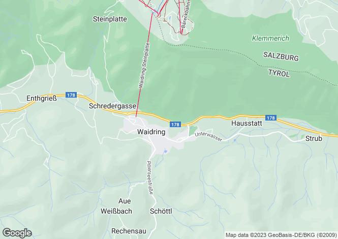 Map for Waidring, Tyrol