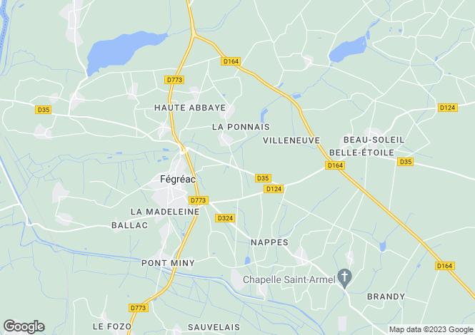 Map for Pays de la Loire, Loire-Atlantique, Fégréac