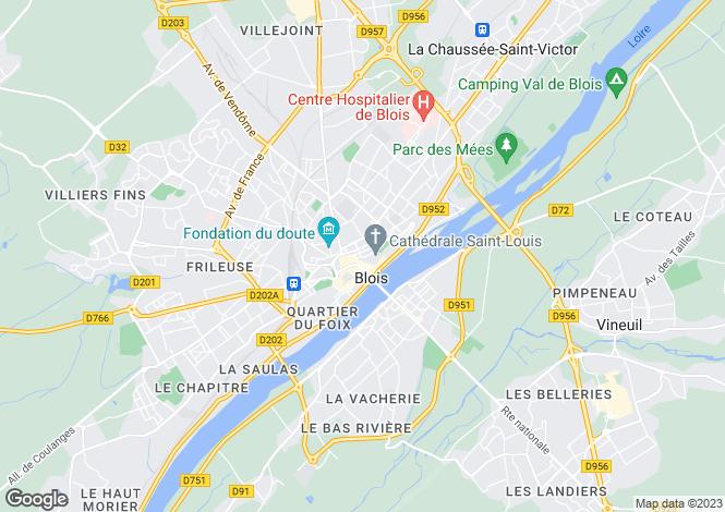 Map for blois, Loir-et-Cher, France