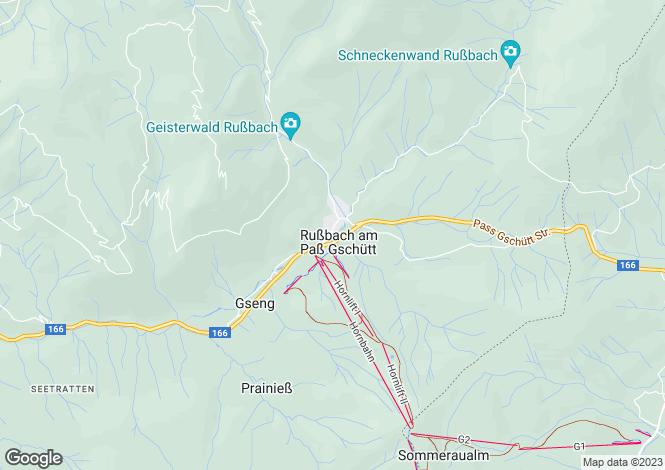 Map for Russbach am Pass Gschuett, Tennegau, Salzburg