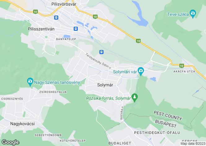 Map for Solymár, Pest