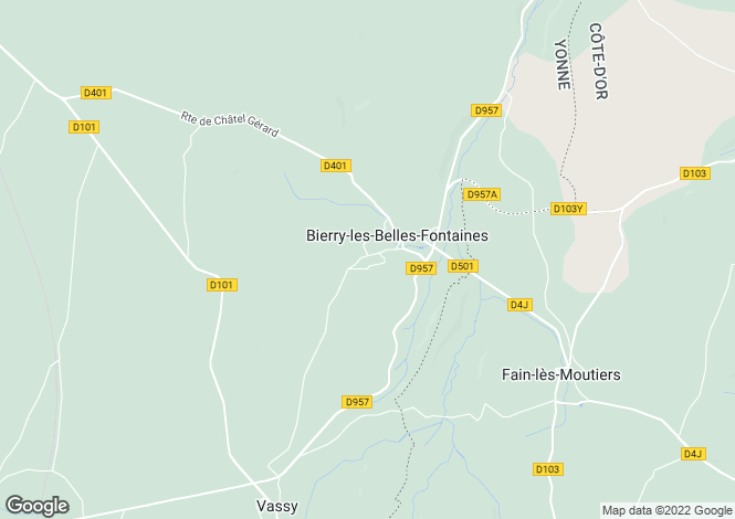 Map for 89420 bierry-les-belles-fontaines
