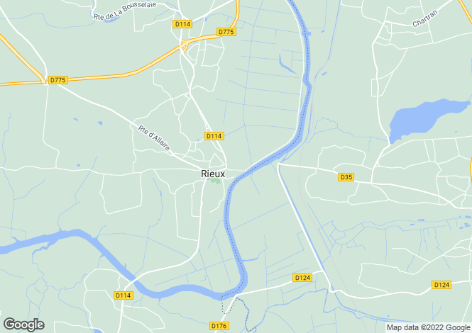 Map for Brittany, Morbihan, Rieux