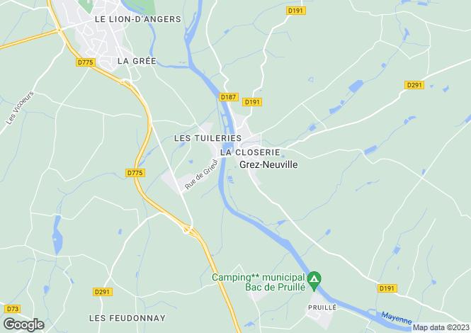 Map for grez-neuville, Maine-et-Loire, France