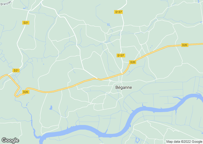 Map for beganne, Morbihan, France