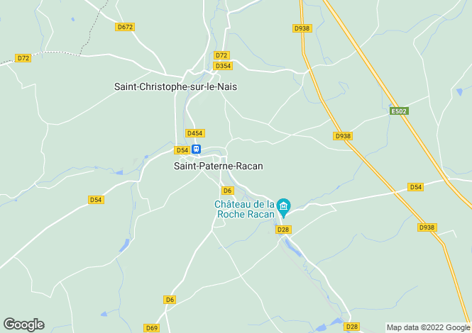 Map for Centre, Indre-et-Loire, St-Paterne-Racan