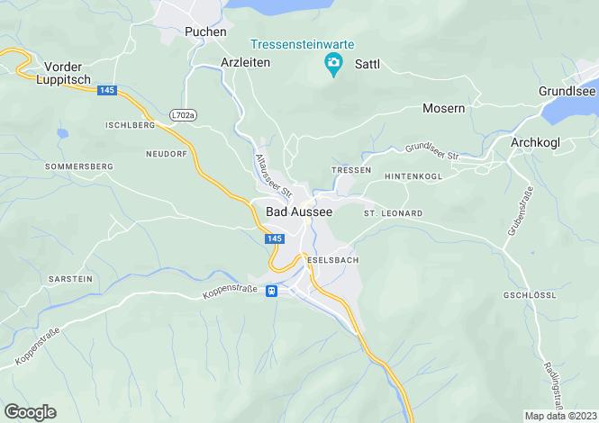Map for Steiermark, Liezen, Bad Aussee, Austria