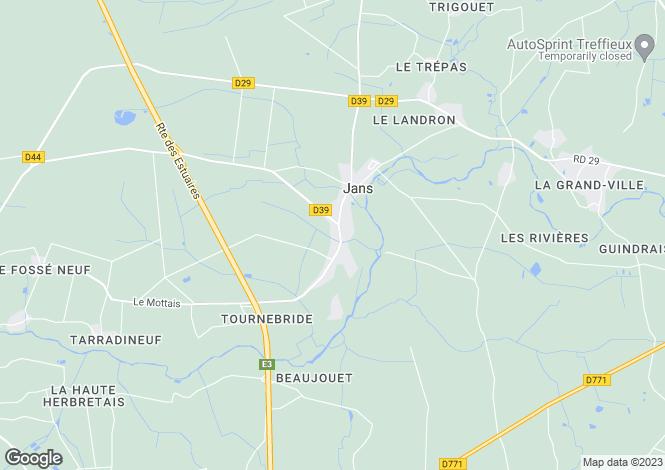 Map for Pays de la Loire, Loire-Atlantique, Jans