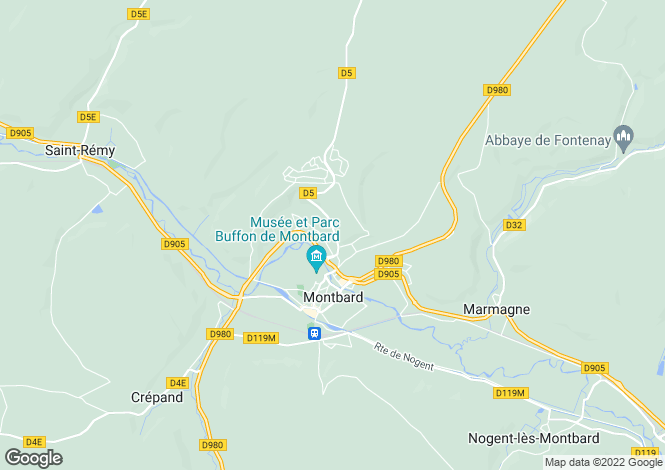 Map for 21500 montbard