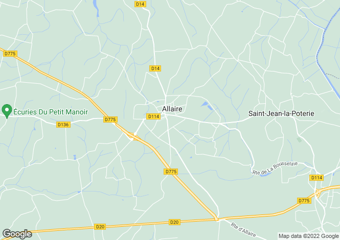 Map for Brittany, Morbihan, Allaire