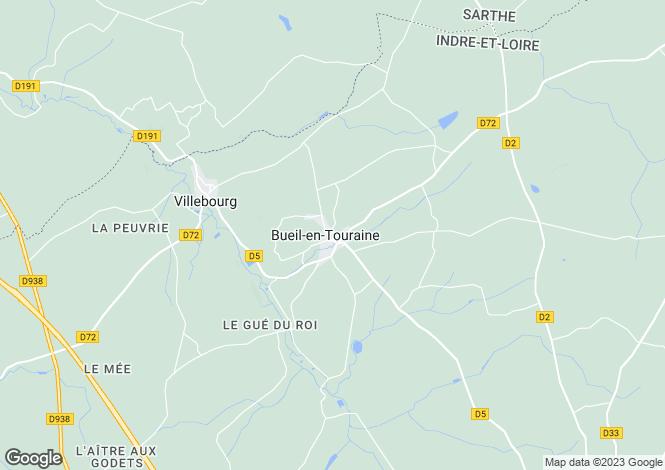 Map for Centre, Indre-et-Loire, Bueil-en-Touraine