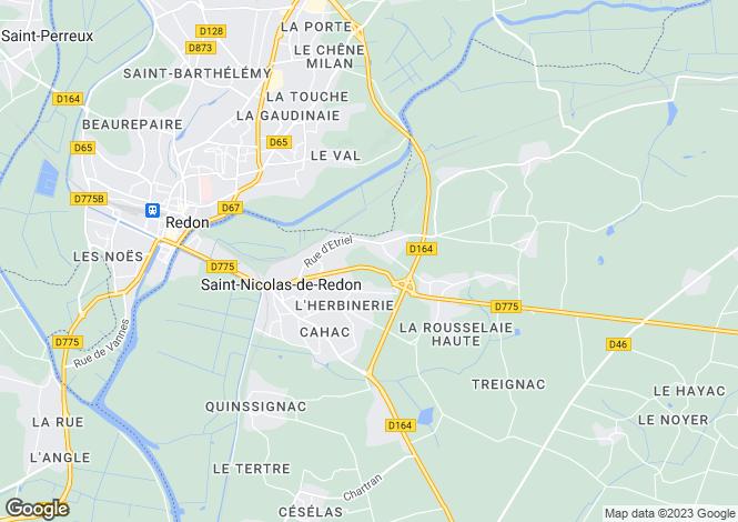 Map for st-nicolas-de-redon, Loire-Atlantique, France