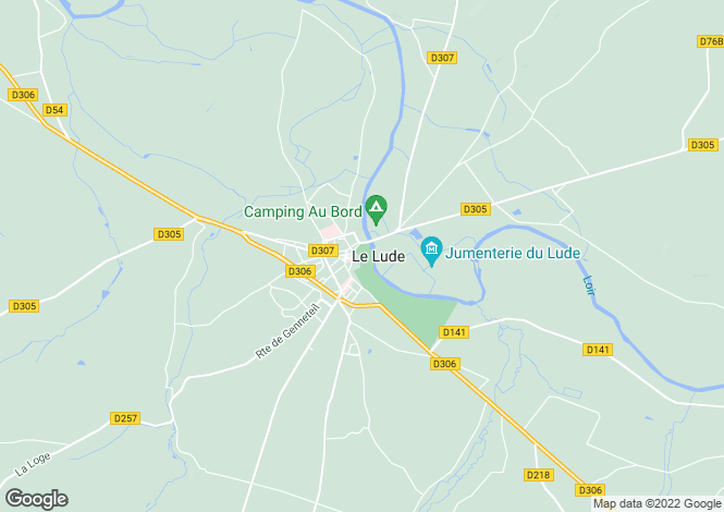 Map for Le Lude, Pays de la Loire, 72800, France