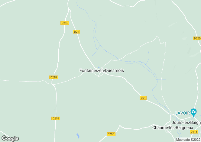 Map for 21450 fontaines-en-duesmois