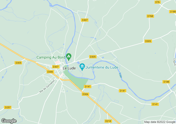Map for le-lude, Sarthe, France
